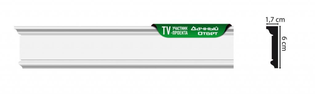 Плинтус потолочный с рисунком DECOMASTER D228