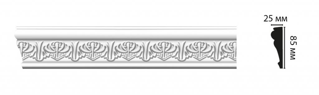 Плинтус потолочный DECOMASTER D152BДМ