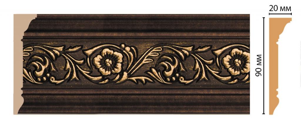Плинтус потолочный с рисунком DECOMASTER D226-56ДМ
