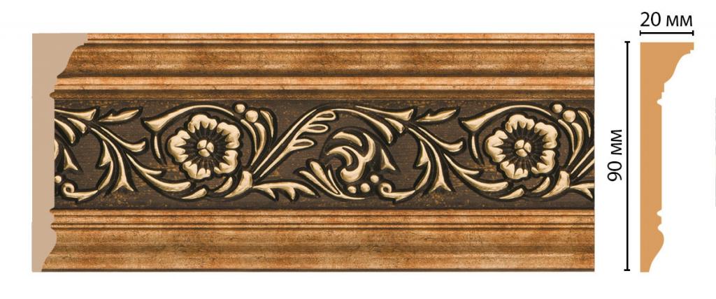 Плинтус потолочный с рисунком DECOMASTER D226-57ДМ