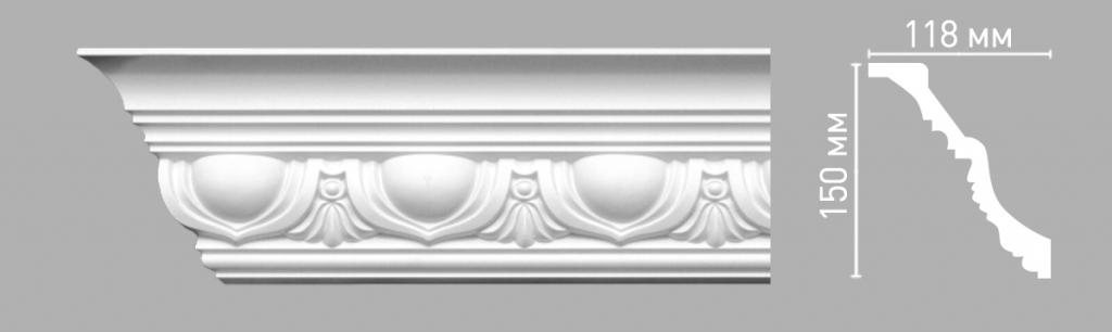 Плинтус потолочный DECOMASTER 95090/15