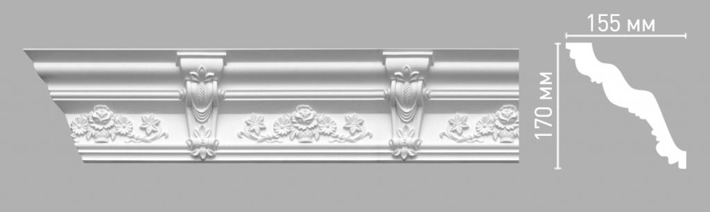 Плинтус потолочный DECOMASTER 95091/9