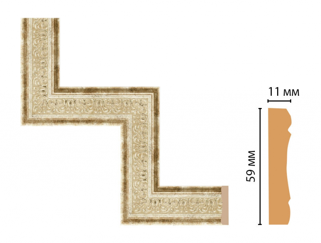 Декоративный угловой элемент DECOMASTER 164-1-127