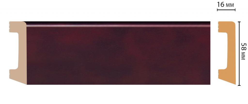 Плинтус напольный DECOMASTER D234-62 ШК/15