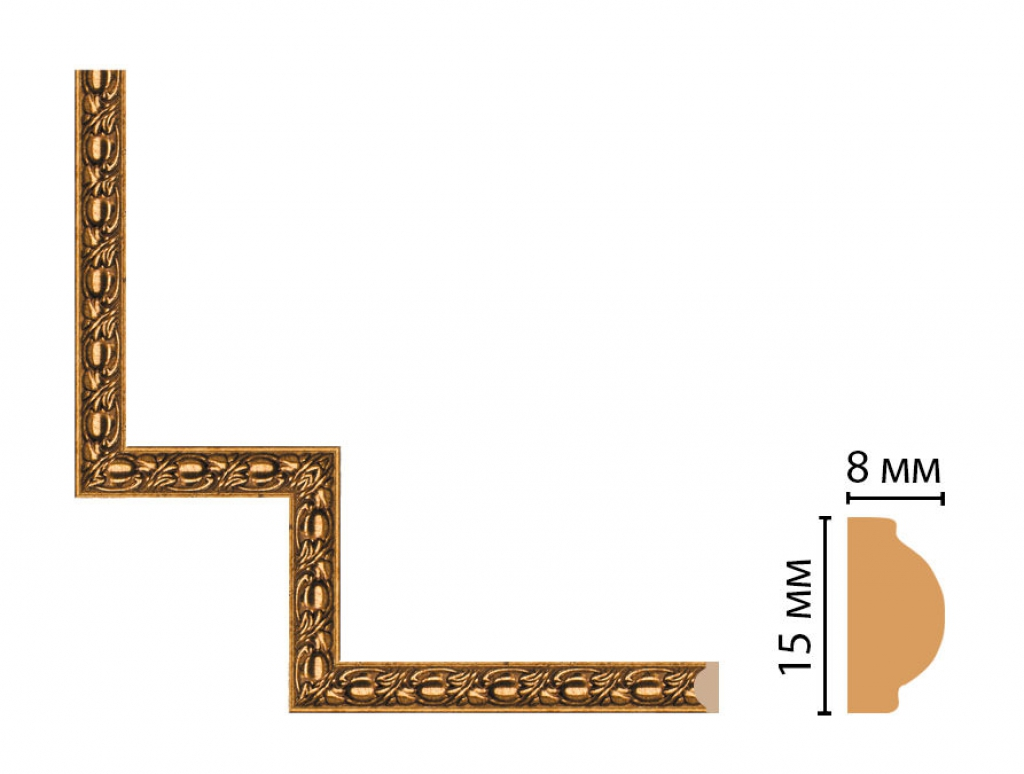 Декоративный угловой элемент DECOMASTER 130C-1-58