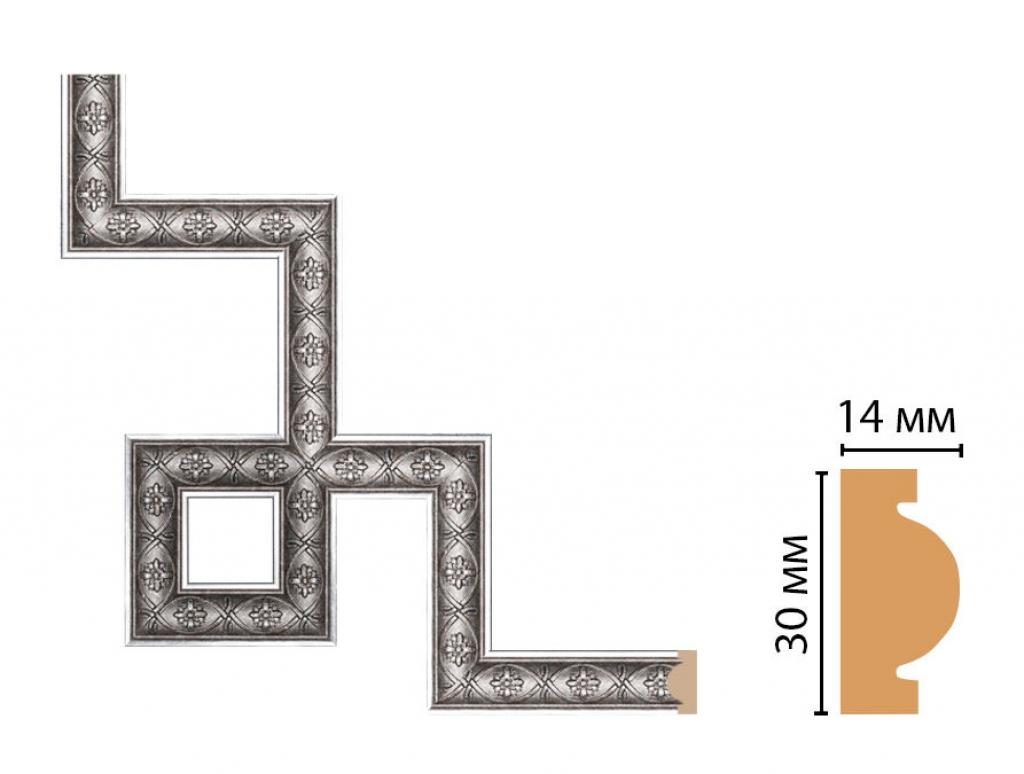Декоративный угловой элемент DECOMASTER 157-3-55