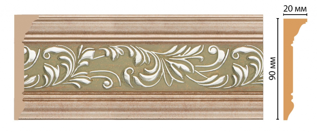 Плинтус потолочный с рисунком DECOMASTER D226-59ДМ