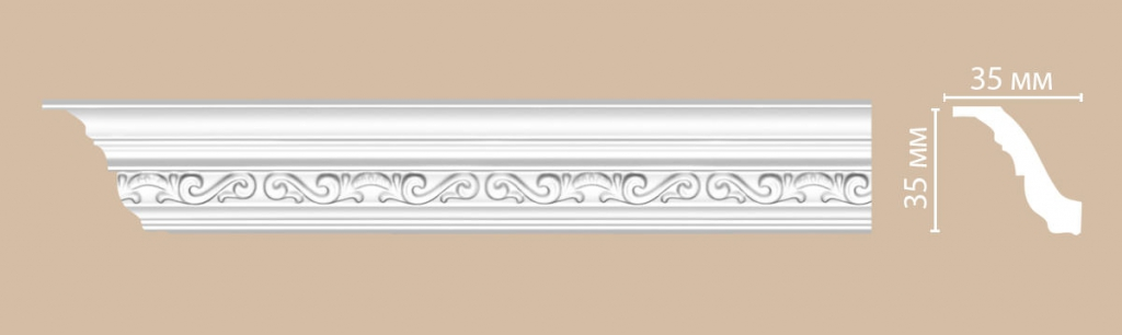Плинтус потолочный с рисунком DECOMASTER 95842