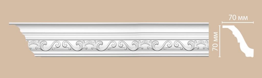 Плинтус потолочный с рисунком DECOMASTER 95843