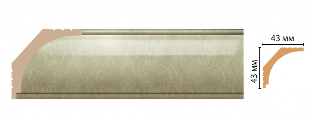 Карниз потолочный DECOMASTER D109-373