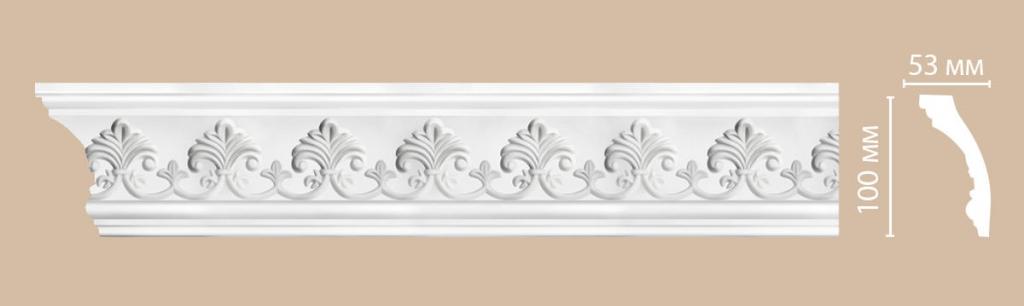 Плинтус потолочный с рисунком DECOMASTER 95346