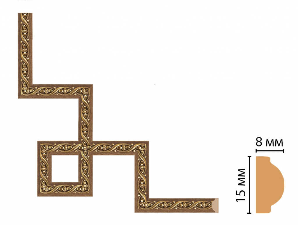 Декоративный угловой элемент DECOMASTER 130-3-3