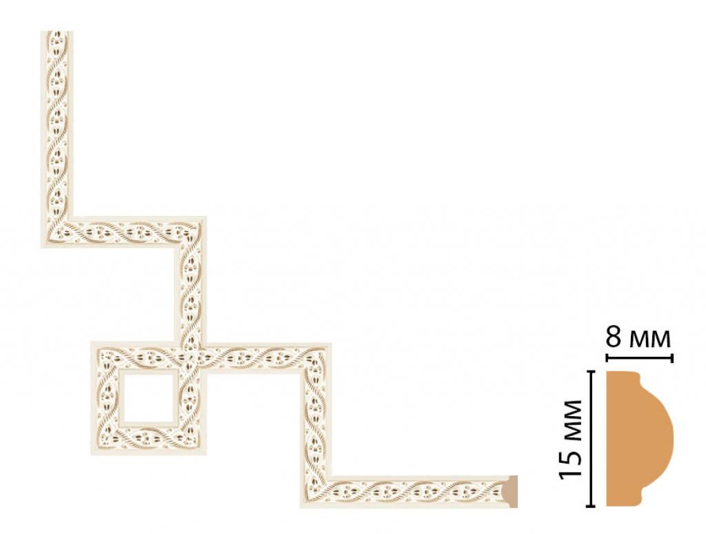 Декоративный угловой элемент DECOMASTER 130-3-6