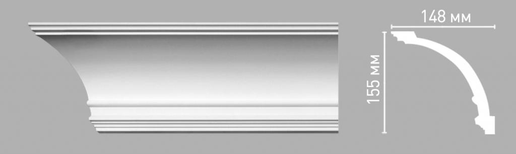 Плинтус потолочный DECOMASTER 96273/15
