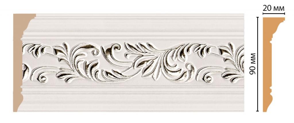 Плинтус потолочный с рисунком DECOMASTER D226-60ДМ