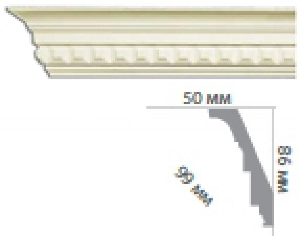 Карниз с орнаментом C1004