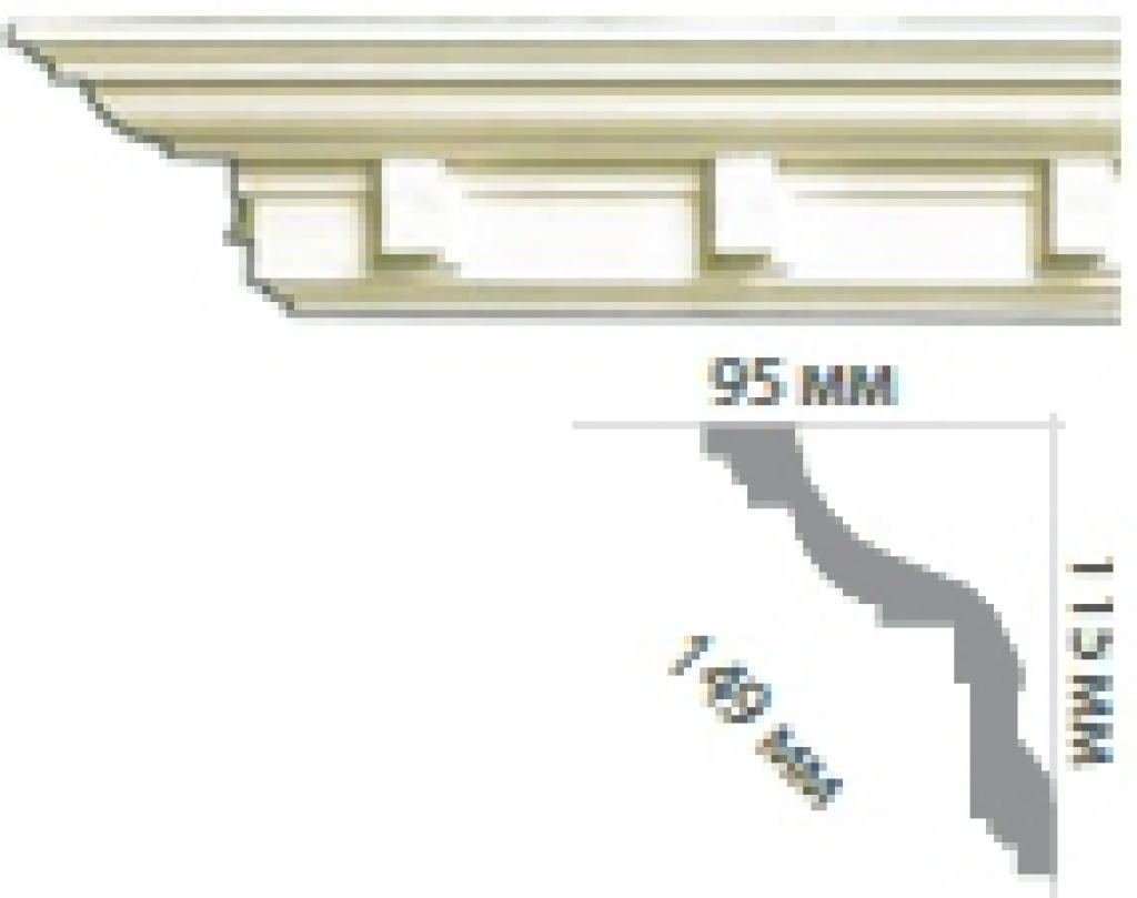 Карниз с орнаментом C1017