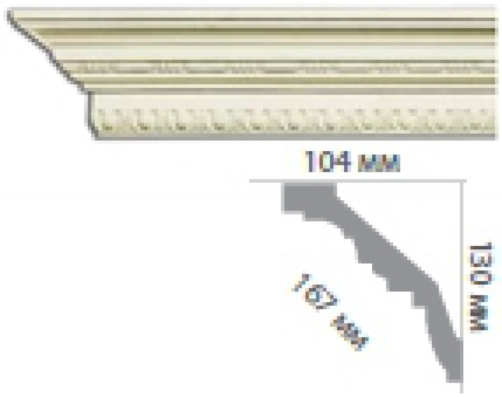 Карниз с орнаментом C1018
