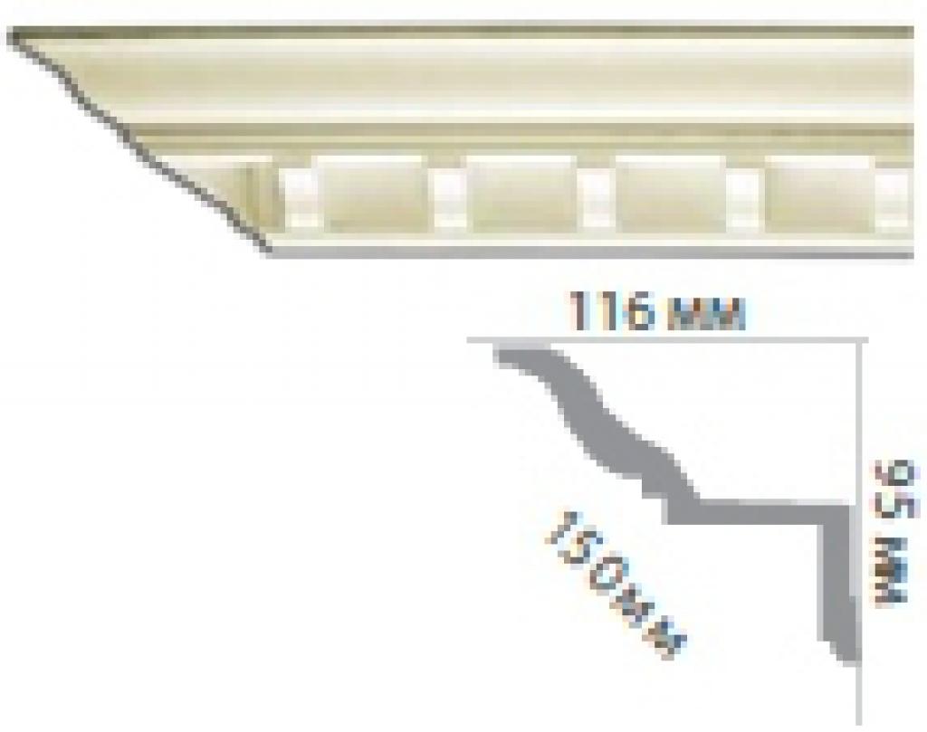Карниз с орнаментом C1027