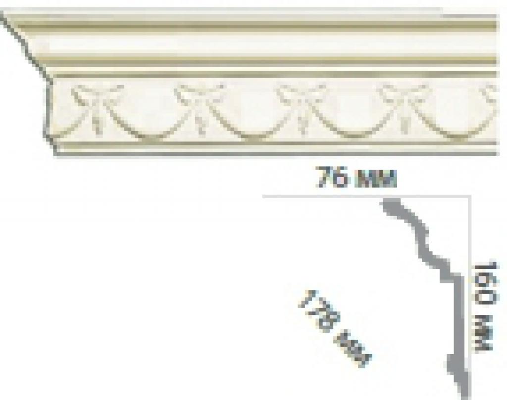 Карниз с орнаментом C1033