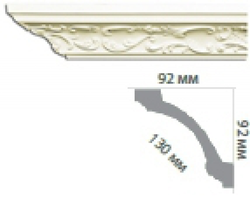 Карниз с орнаментом C104 FLEXI