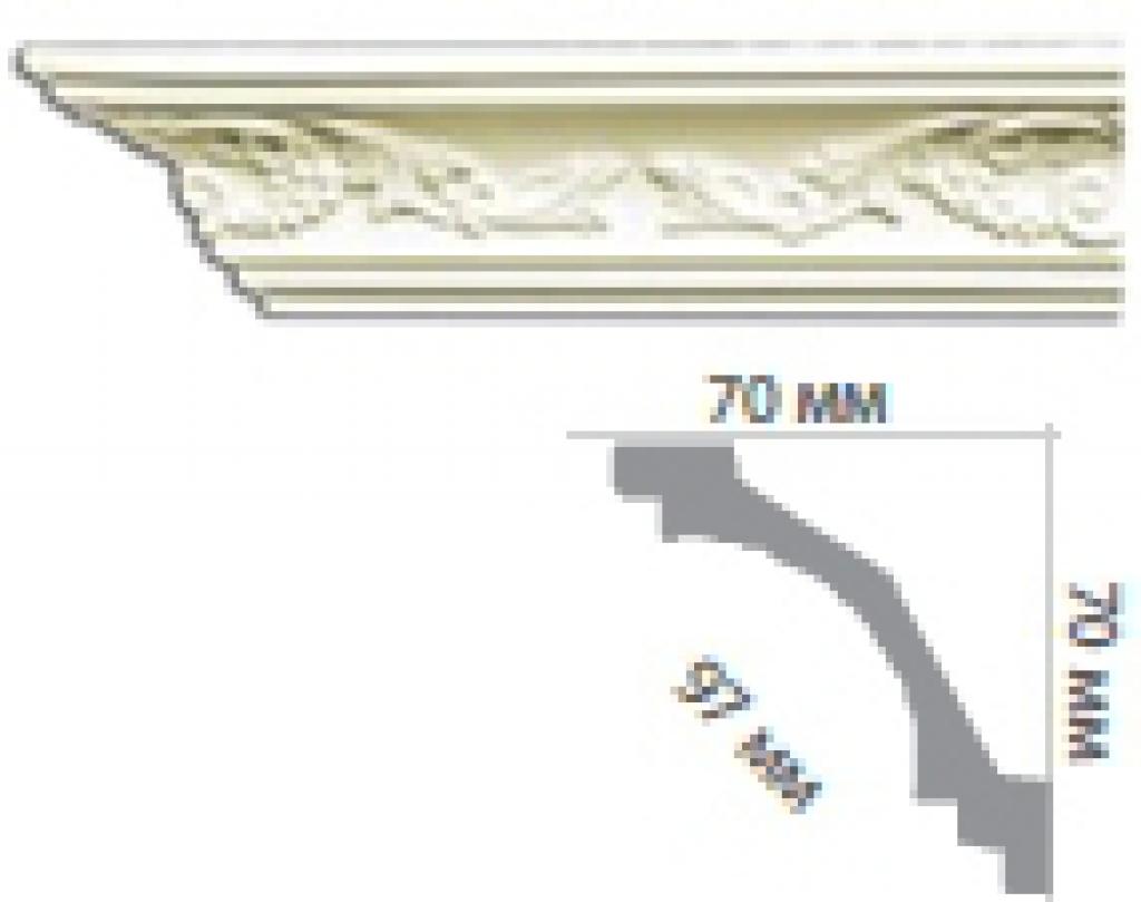 Карниз с орнаментом С1044