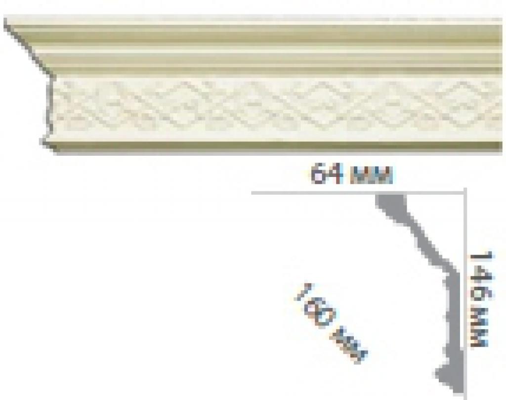 Карниз с орнаментом C1057
