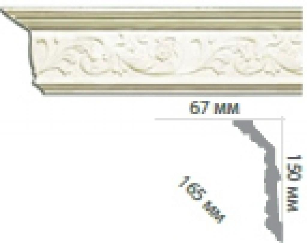 Карниз с орнаментом С1063
