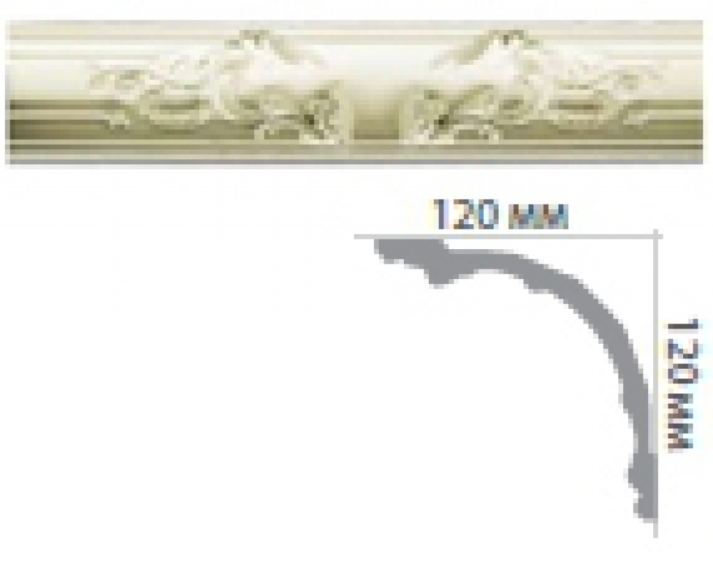 Карниз с орнаментом C1091