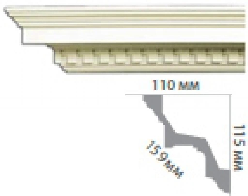Карниз с орнаментом C125