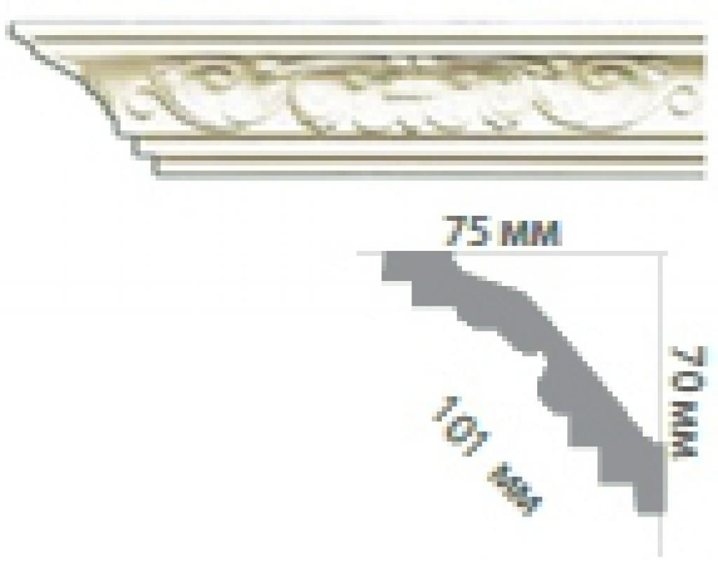 Карниз с орнаментом C173 FLEXI