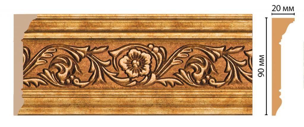 Плинтус потолочный с рисунком DECOMASTER D226-58ДМ