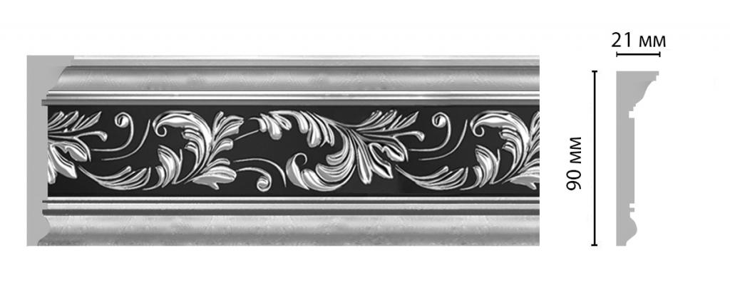 Плинтус потолочный с рисунком DECOMASTER D226-63ДМ