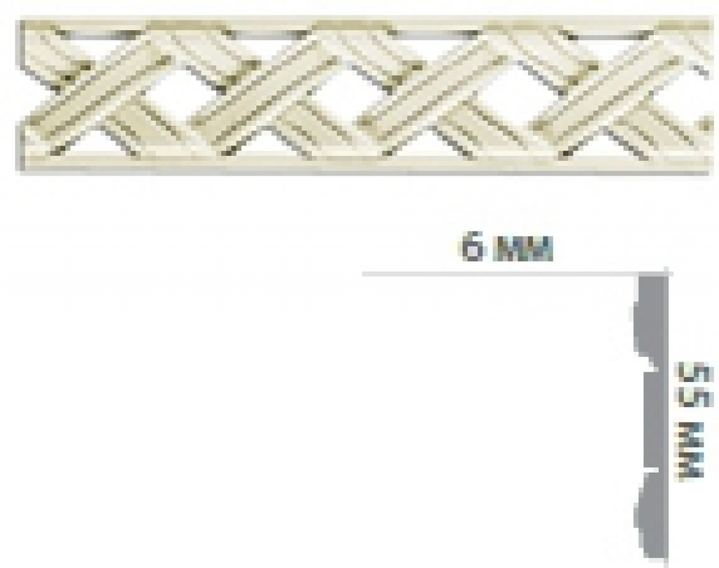 Молдинг с орнаментом CR3022