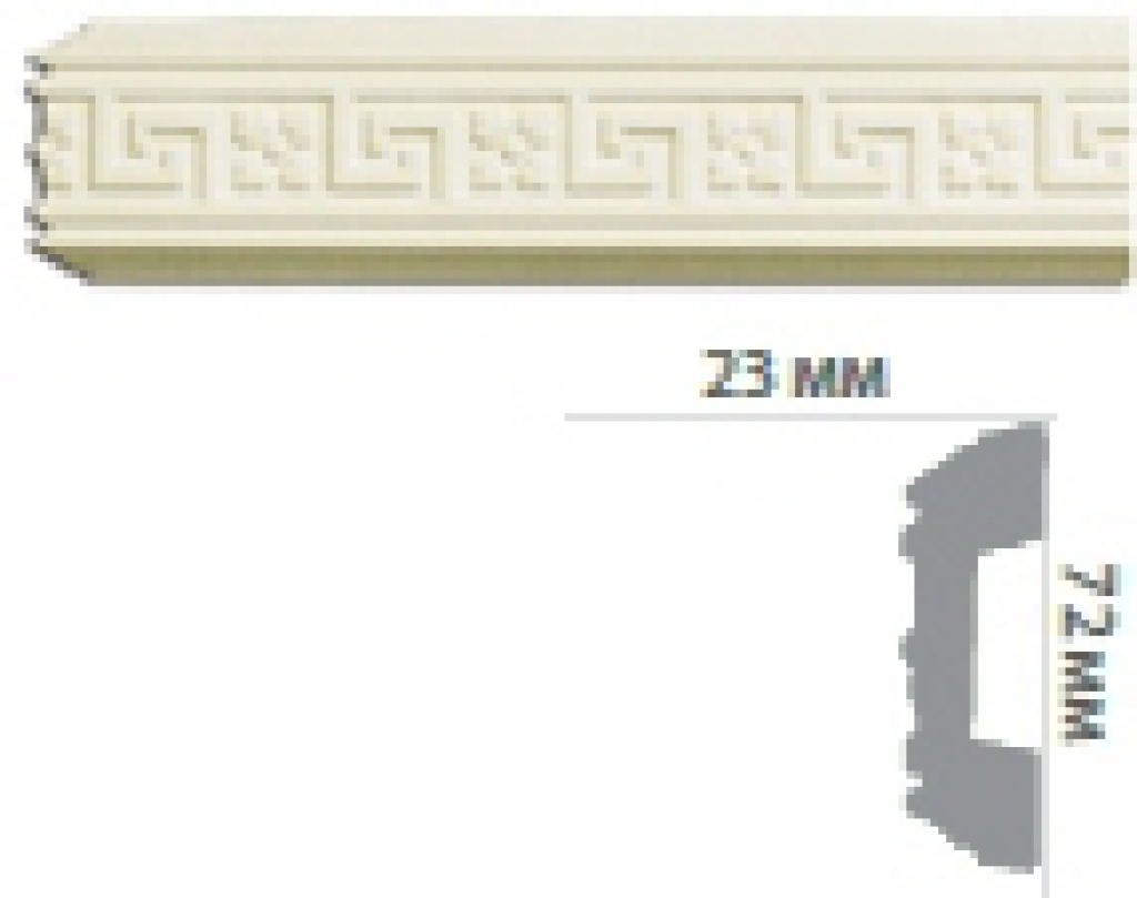 Молдинг с орнаментом CR640