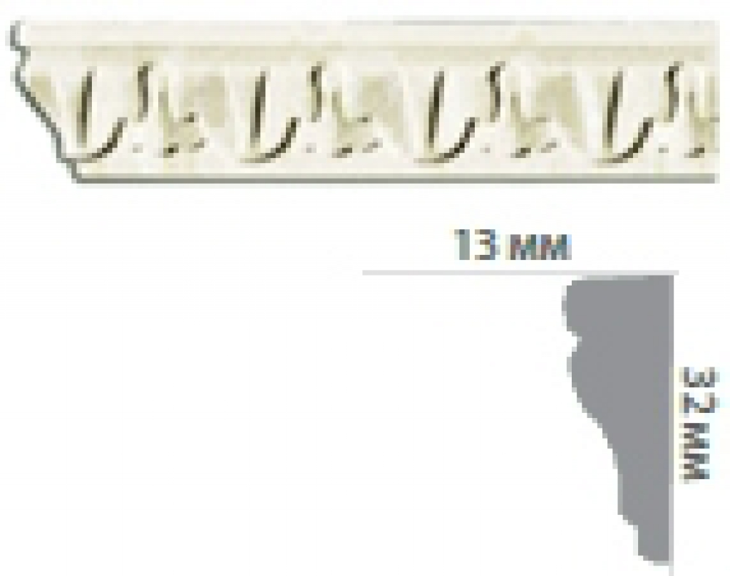 Молдинг с орнаментом CR685