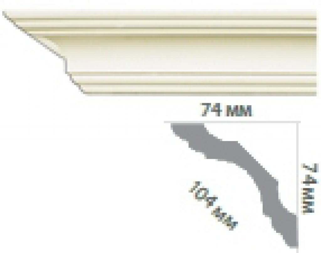 Карниз с гладким профилем P201