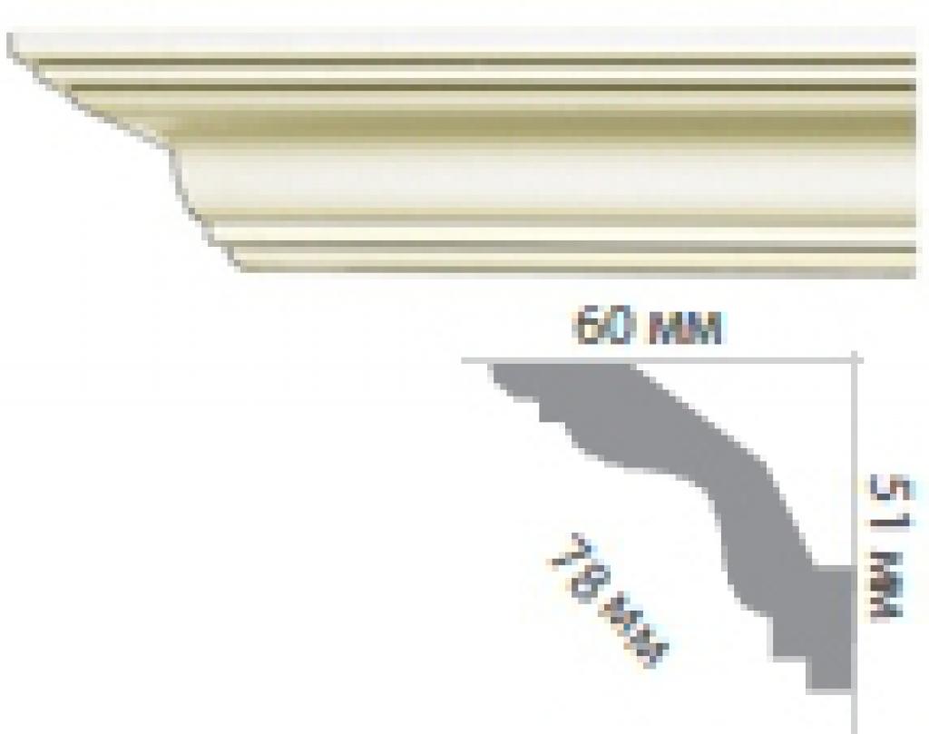Карниз с гладким профилем P220