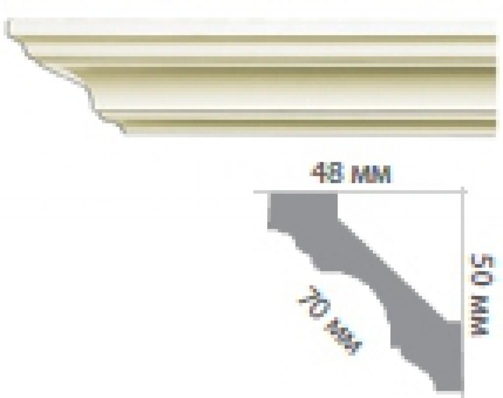 Карниз с гладким профилем P222