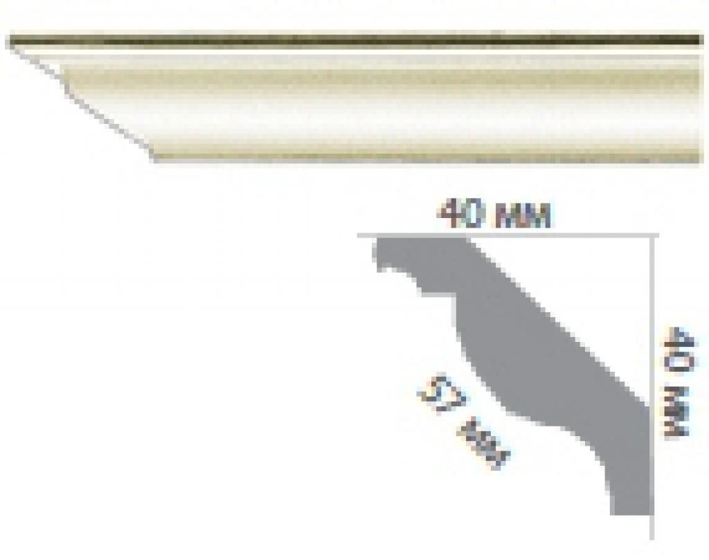 Карниз с гладким профилем P224 FLEXI