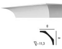 Карниз с гладким профилем C240